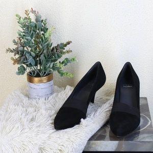 Stuart Weitzman || Black Suede Heels